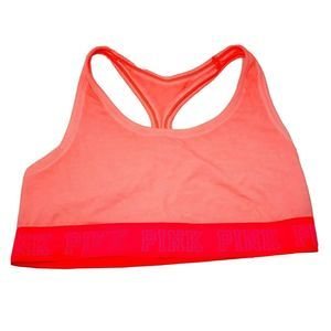 Victoria's Secret PINK Neon Coral Sports Bra Large